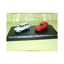 CITROEN AMI 6 BREAK 1968 et AMI 6 POMPIERS UNIVERSAL HOBBIES 1:87