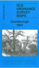 Old Ordnance Survey Map Conisbrough 1901 Burcroft Lime Grove Denaby Main
