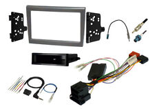 FK-9591-SWC PORSCHE 987 & 997 SINGLE AND DOUBLE DIN SILVER STEREO FITTING KIT