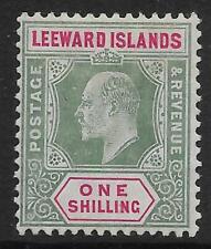 LEEWARD ISLANDS SG35 1908 1/= GREEN & CARMINE MTD MINT