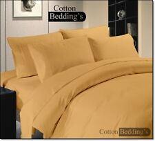 TODAY's LOW PRICE Egyptian Cotton 1000 TC Sheet/Duvet Set in US Queen Size Solid