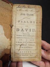 1771- Boston Imprint - Psalms of David - Brady and Tate's Version-before Aitken?
