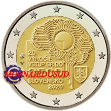 2 Euro Commémorative Slovaquie 2020 - Adhésion Slovaque à l'OCDE UNC NEUVE
