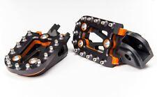 Fasst Co Impact Moto Footpegs Pegs Black Orange KTM Husqarna Beta Sherco