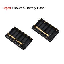 6AA Battery Case FBA-25A 2pcs for YAESU VERTEX FT60R VX-150 VX-170 Ham Radio
