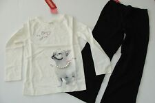 Gymboree Tres Fabulous Girls Size 4 Black Pants Dog Pearl 3-4 Top Set NWT