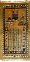Muslim Prayer Rug- Islamic Janamaz Prayer Mat Carpet with 2 Gift Items,Yellow.