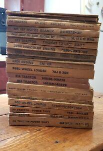 LOT of 22 Old Caterpillar Parts Manuals D5 D6 D9 D4400 Generator D349 MORE!!!