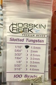 SLOTTED Tungsten Beads 100 Ct. Silver All Sizes 1/16 to 5/32 100 Count