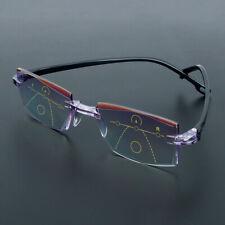 Neu Randlose Anti-Blaulicht-progressive multifokale Lesebrille Computerbrille