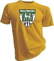 VfL WOLFSBURG GERMANY Bundesliga Football Soccer Yellow T-SHIRT NEW Size s-4xl