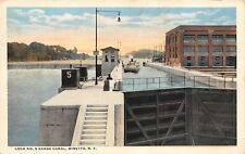 Minetto New York~State Barge Canal~Lock No 5~Brookfield Power Plant~1916 PC