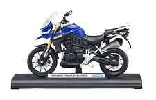 GENUINE TRIUMPH TIGER EXPLORER 1:18 SCALE MODEL BOXED IN SAPPHIRE BLUE