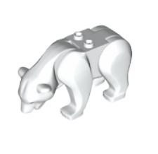 Lego ® Minifig Animal Ourse Polaire Blanc White Bear 38725 NEW