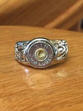 Winchester 9mm Luger Nickel Bullet Casing Adjustable Ring