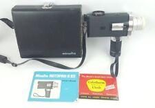Vintage Minolta Autopak 8 S3 Super 8 Película Cámara Y Caja Y Manual Hecho en Japón