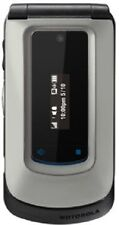MOTOROLA i420 METAL METALLIC SOLID TELUS MIKE CELL PHONE FLIP FLOP WALKIE TALKIE