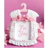 Nettes rosa Kleiderform-Foto-Rahmen-Baby scherzt Geburtstags-Kunstharz PhotoF CL