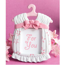 pink Dress Shape Photo Frame Baby Kids Birthday Synthetic Resin Photo Frame   X