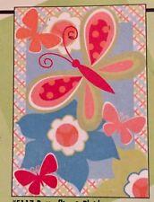 Butterfly Spring Flowers Applique Mini Window Garden Yard Flag New