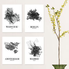 """JUNIWORDS Poster """"Stadt nach Wahl"""" City Städte Skyline 40 x 60 cm Weiß Design A"""