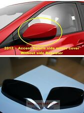 2012 ~ HYUNDAI ACCENT SOLARIS NO Repeater SIDE MIRROR COVER 2PCS 1SET Genuine
