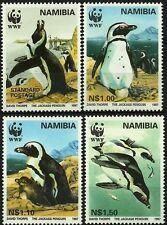 NAMIBIE NAMIBIA OISEAUX MANCHOT DU CAP JACKASS PENGUINS BIRDS VÖGEL ** 1997 WWF