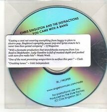 (CQ360) Chris Singleton & The Distractions, You Came With A Bang - 2011 DJ CD