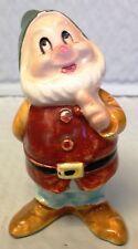 "Vintage Disney Porcelain Snow White HAPPY Dwarf 3"" figurine 1960's~JAPAN~RARE~"