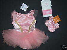NWT Gymboree 12-18 Months Pink Ballerina Ballet Costume Tutu Slippers & Tights