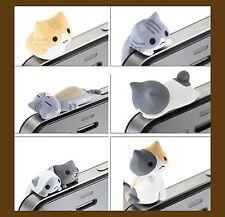 1pc Japan Nyanko cute cat Cell Phone Anti Dust Earphone Plug Cap 6 design pick 1