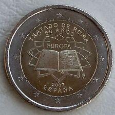 2 Euro Spanien 2007 Römische Verträge unz
