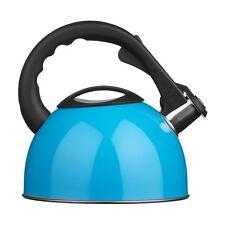 Whistling Kettle, Blue/Stainless Steel, 2.5Ltr