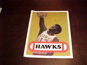 1974 Washington Bullets v Atlanta Hawks Basketball Program 11/26 Dwight Jones