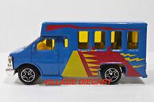 "1999 Matchbox ""Wilderness Road Trip"" Chevy® Transport Bus BLUE/MINT"