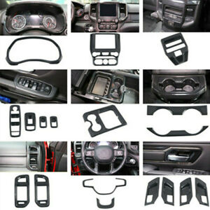 Interior Accessories Whole Kit Cover Trim 18pcs For Dodge Ram 1500 2019-2020