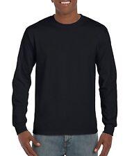 Long Sleeve Plain Gildan T-Shirt Plain Basic Adults sizes S - 5XL Big Mens Sizes