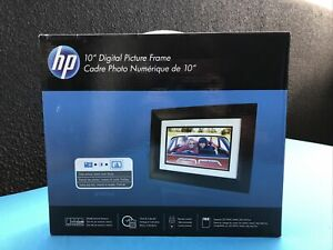 "HP 10"" Digital Picture Frame NEW(IOB) COMPLETE - Remote, Power Supply & Manual"