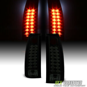 Blk Smoke 1988-1998 Chevy/GMC C10 Suburban Tahoe Yukon Lumileds LED Tail Lights