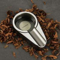 CIGARISM Silver Small Size Aluminium Alloy Metal Cigar Travel Ashtray CN