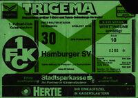 Ticket DFB-Pokal 87/88 1. FC Kaiserslautern - Hamburger SV