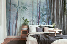 Fototapete Digitaldruck Aqurellmalerei Wald  255 x 350 cm DD118801