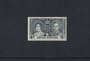 British Honduras - 1937 - SG 148 - 4c - Coronation (Grey) - MLH 2015