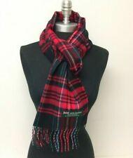 New 100% CASHMERE SCARF Scotland SOFT Wool Wrap Plaid Red / Black / green / blue