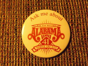 FOR THE RECORD ALABAMA 41 NUMBER ONE HITS PROMOTIONAL PIN