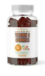 MAV Nutrition Vitamin C for Kids Immune Support Gummies with Zinc, Elderberry, E