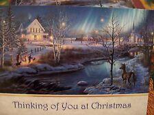 Leanin Tree Christmas Card Set Snowy Victorian Scene New !