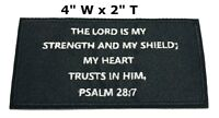 PSALM 28:7 Iron-On Patch Christian Morale Tactical Military Emblem