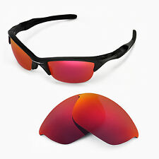 New Walleva Polarized Fire Red Replacement Lenses For Oakley Half Jacket 2.0