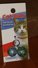 COASTAL PET BELLS 2 PACK FROSTED ROUND JEWEL TRACKING GRN/BLUE IN USA